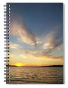 Angel Wing Sunset Spiral Notebook