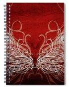 Angel Wings Crimson Spiral Notebook
