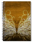 Angel Wings Gold Spiral Notebook