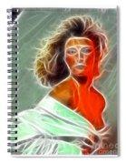 Angela Leather Red Fractal Spiral Notebook