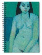 Angelina Nude Spiral Notebook