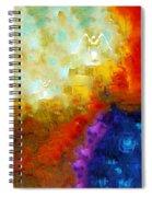 Angels Among Us - Emotive Spiritual Healing Art Spiral Notebook