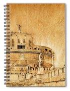 Angels Bridge And Castle Spiral Notebook