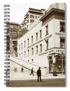 Angel's Flight Railway Los Angeles California  Circa 1908 Spiral Notebook