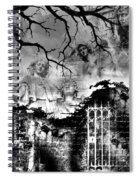 Angels In Gothica Bw Spiral Notebook