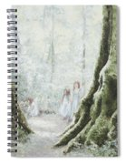 Angels In The Mist Spiral Notebook