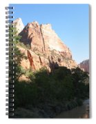 Angels Landing And Virgin River - Zion Np Spiral Notebook