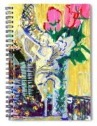 Angels With Roses Spiral Notebook
