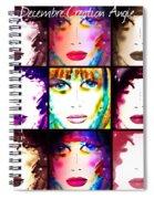 Angie December Spiral Notebook