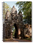 Angkor Thom North Gate 02 Spiral Notebook