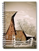 Angle Top Barn Spiral Notebook