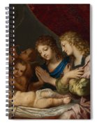 Angles Adoring The Sleeping Christ Spiral Notebook