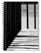 Angles And Shadows - Black And White Spiral Notebook