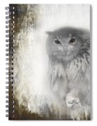 Angry Owl's Talons Spiral Notebook