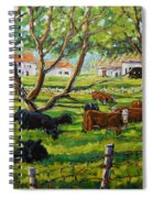 Angus Cows Under The Cool Shade By Prankearts Spiral Notebook