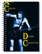 Angus Creates Decibel Celebrations In Blue Spiral Notebook