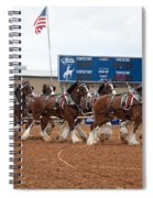 Anheuser Busch Clydesdales Pulling A Beer Wagon Usa Rodeo Spiral Notebook