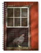 Animal - Bird - Chicken In A Window Spiral Notebook