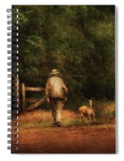 Animal - Dog - A Man And His Best Friend Spiral Notebook