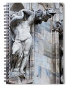 Animal Gargoyles Duomo Di Milano Italia Spiral Notebook