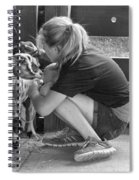 Animal - Goat - A Girl And Her Goat Spiral Notebook