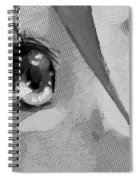 Anime Girl Eyes Black And White Spiral Notebook