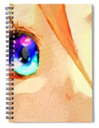 Anime Girl Eyes Gold Spiral Notebook