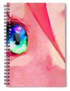 Anime Girl Eyes Red Spiral Notebook