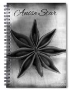 Anise Star Single Text Distressed Black And Wite Spiral Notebook