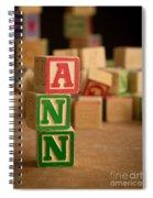 Ann - Alphabet Blocks Spiral Notebook
