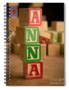 Anna - Alphabet Blocks Spiral Notebook