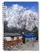 Annapurna Mountain View, Nepal Spiral Notebook