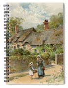 Anne Hathaway's Cottage At Shottery Spiral Notebook