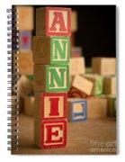 Annie - Alphabet Blocks Spiral Notebook