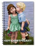 Anniversary Card 5x7 Spiral Notebook