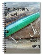 Anniversary Greeting Card - Saltwater Lure Spiral Notebook