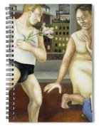 Annunciation With Yellow Dress Spiral Notebook