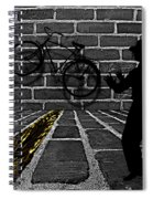 Another Bike On The Wall Spiral Notebook