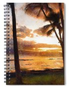Another Maui Sunset - Pastel Spiral Notebook