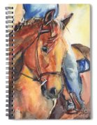 Horse In Watercolor Another Sunrise Spiral Notebook