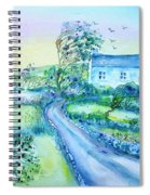 Another Windy Day On Cleare Island Ireland   Spiral Notebook