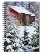 Another Wintry Barn Spiral Notebook