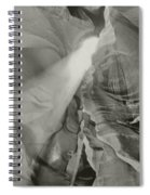 Antelope Canyon Light Black And White Spiral Notebook