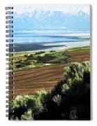 Antelope Island Wasatch Mountains Utah Spiral Notebook