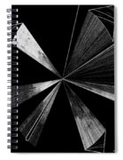 Antenna- Black And White  Spiral Notebook