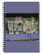 Anti-iraq War Posters 4th Avenue Book Store Window Tucson Arizona 2000 Spiral Notebook