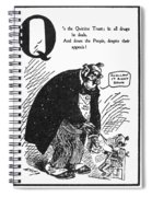 Anti-trust Cartoon, 1902 Spiral Notebook