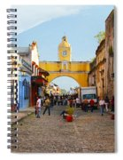 Antigua Guatemala Clock Spiral Notebook