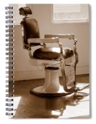 Antiquated Barber Chair In Sepia Spiral Notebook