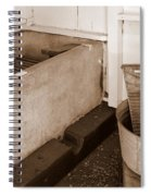 Antiquated Bathtub Washboard And Laundry Tub In Sepia Spiral Notebook